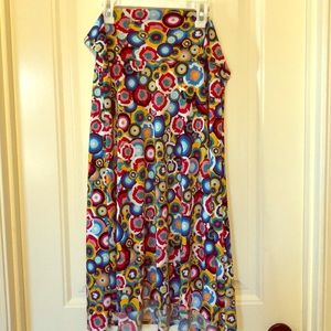 LuLaRoe Azure A-line skirt - like new